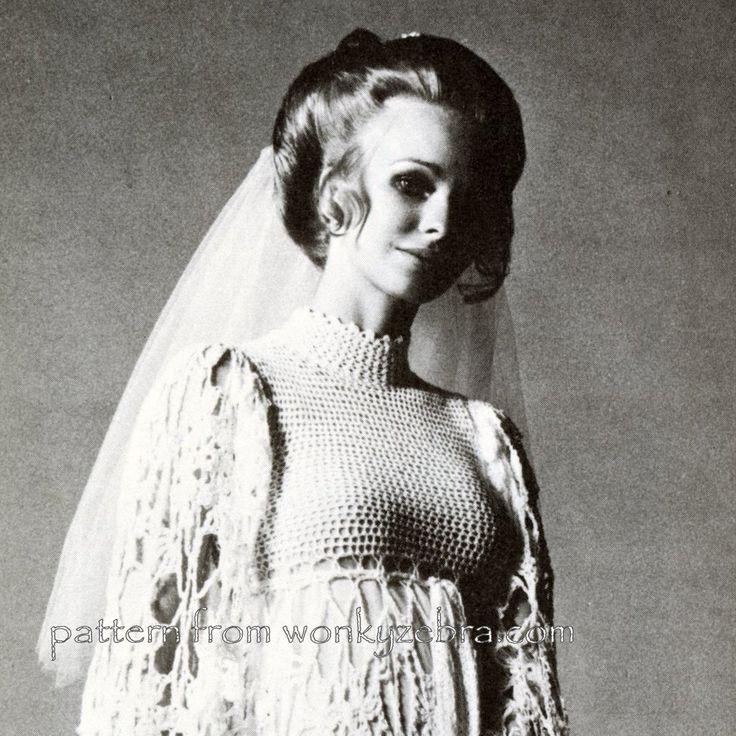 WZ174 bodice detail; empire line with high Victorian neckline . Crochet pattern PDF WZ174 $3 from wonkyZebra.com