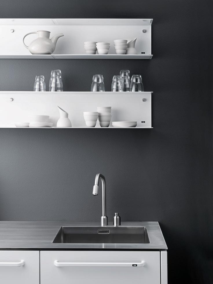Vipp 922 Wall Shelf from @VIPP. #design #interior #kitchen #wallshelf