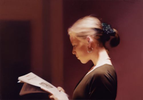 "Gerhard Richter, *1932 in Dresden, ""Reader"" 1994, 72x102cm, Oil on Canvas"
