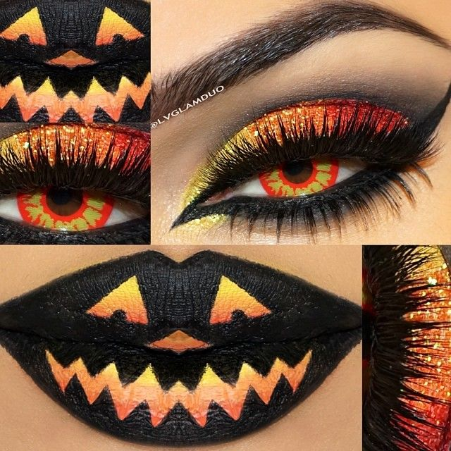 love the eyeshadow-Halloween makeup