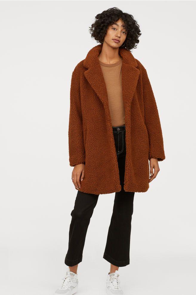 fashion catch buying now Short Pile Coat in 2019 | Coat, Jackets, Teddy coat