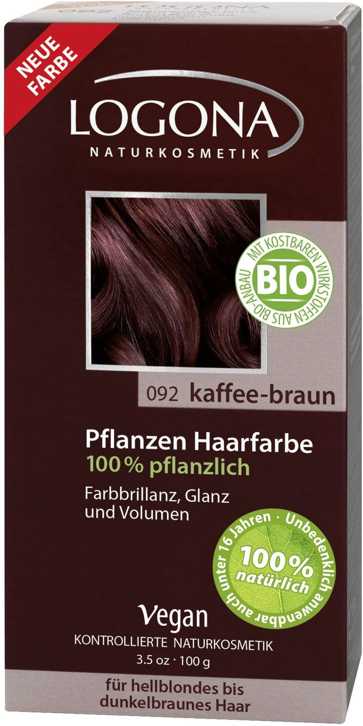 Rastlinska barva za lase  092 kavno rjava - 100 g