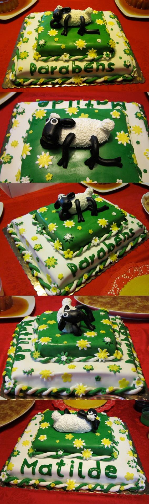 Shaun the Sheep Cake (Matilde's birthday cake)