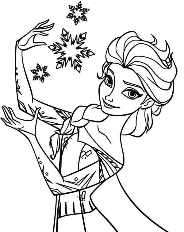 queen elsa create beautiful snowflake coloring pages