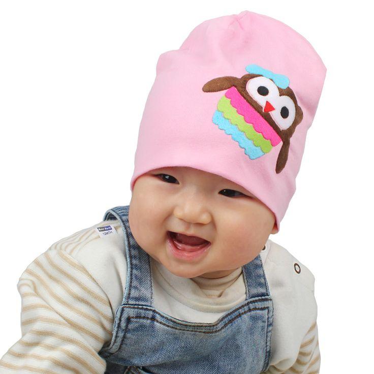 Cappello del bambino di modo infantile del cotone delle ragazze berretti per la primavera autunno gufo tratto bella ragazzi ragazze ricoprono 12 colori SW115
