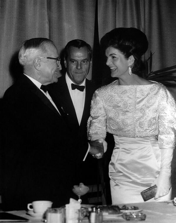 January 20, 1962: First Lady Jacqueline Kennedy and former President Harry S. Truman