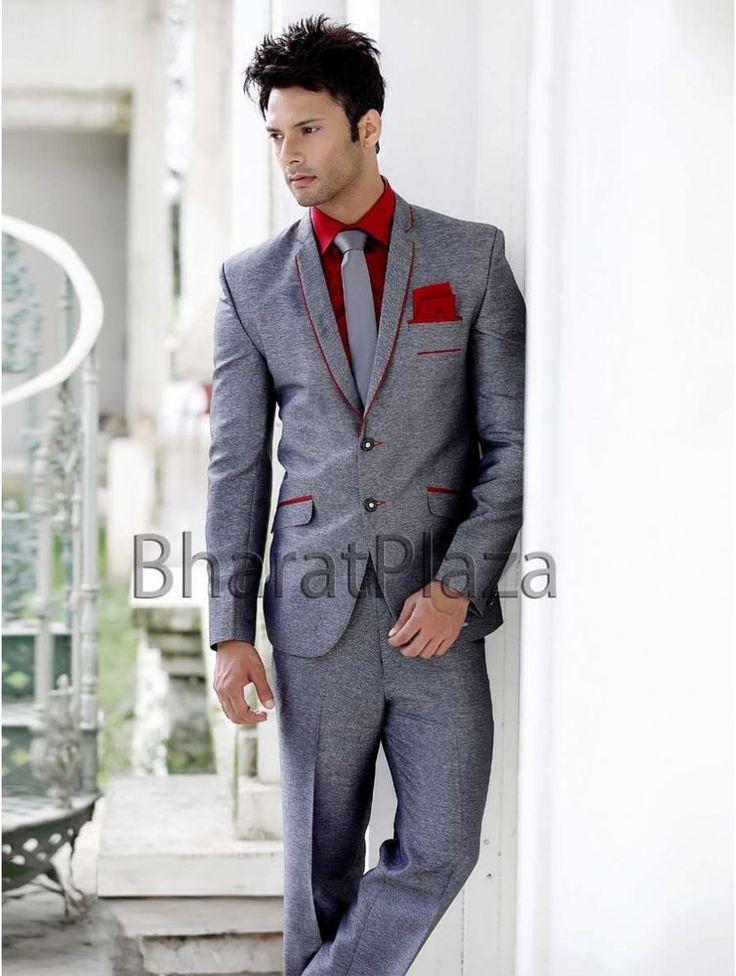 Wedding Reception Two Piece Enagagement Men Suit #BharatPlaza #DesignerMenSuit