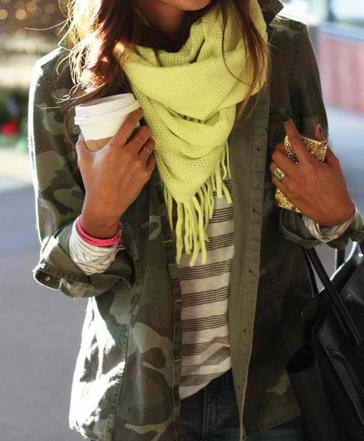 neon & camo fashion inspiration