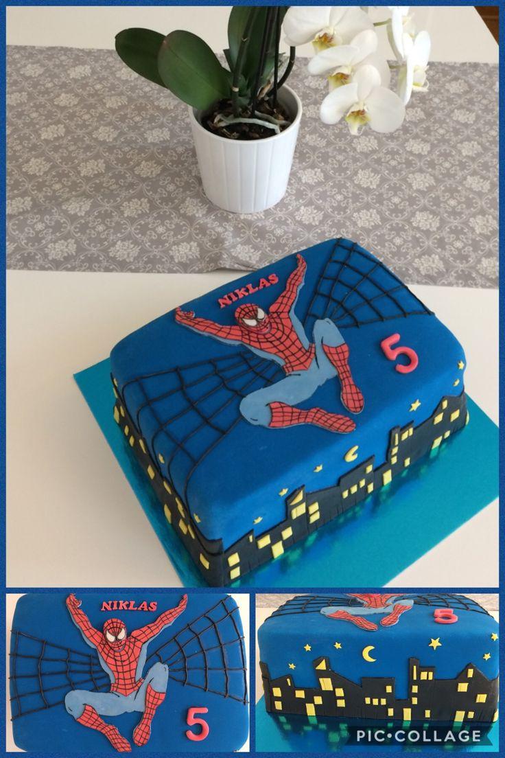 Spiderman cake/ Fondant