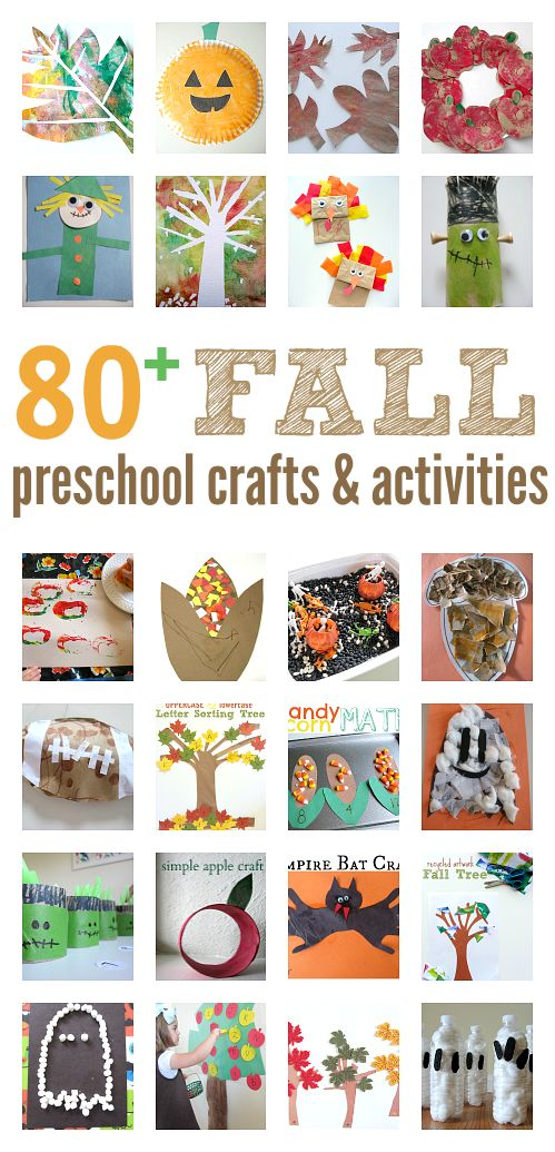 HUGE list of fall craft ideas for preschool and early elementary school. There are book lists too!