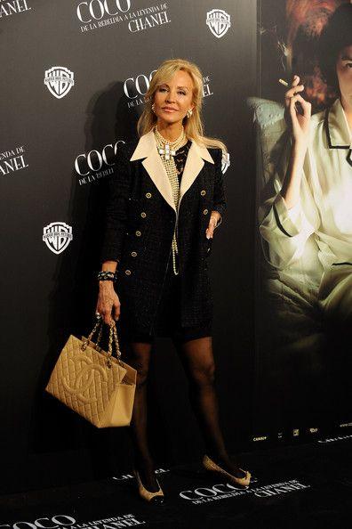 """Carmen Lomana Photos: Audrey Tautou Attends """"Coco"""" Madrid Premiere"""