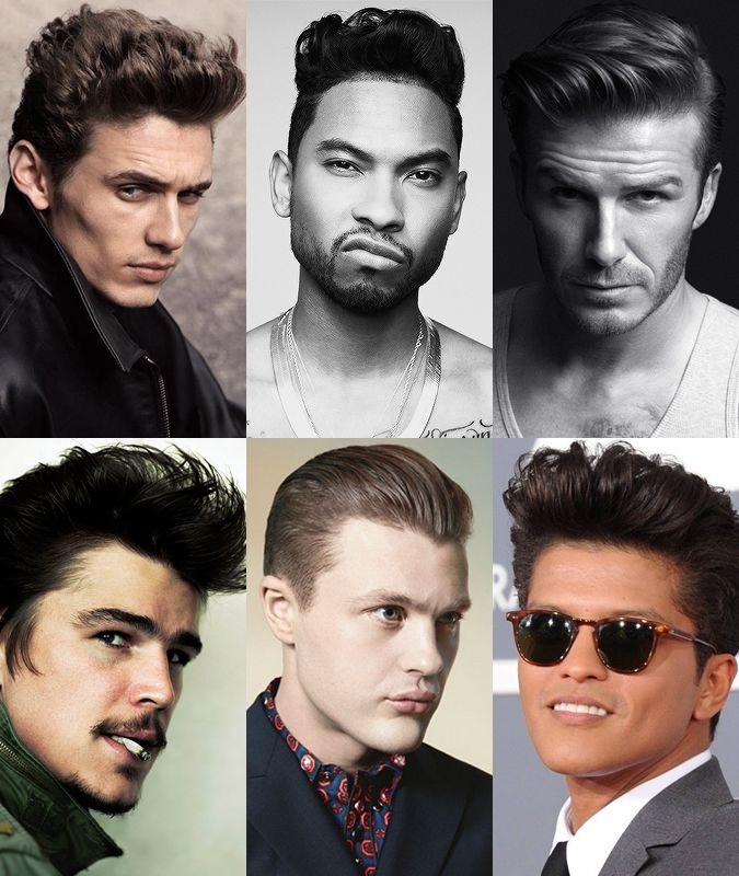 Celebrities Sporting The Pompadour Hairstyle #men #hairstyle