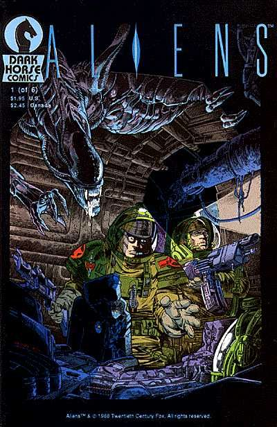 The Aliens comic book line is a long-running series of comic books published by Dark Horse Comics based on the Alien franchise, chiefly the 1986 film Aliens. The line has included a number of limited series, one-shots and short stories, starting with the comic Aliens: Outbreak in July 1988. Since the line's inception, Dark Horse has published a total of 68 different Aliens stories, as well as various collected editions, reprints and non-canon crossover comics. Of the four Dark Horse comic...
