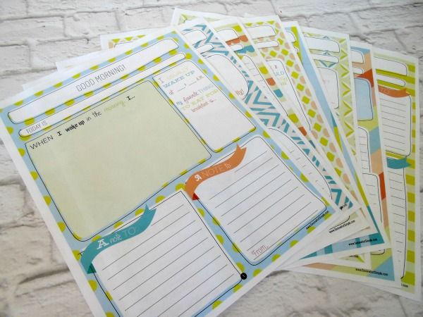 Super cute printable child's journal with daily prompts and fill-in-the-blanks from www.SomewhatSimple.com #journal
