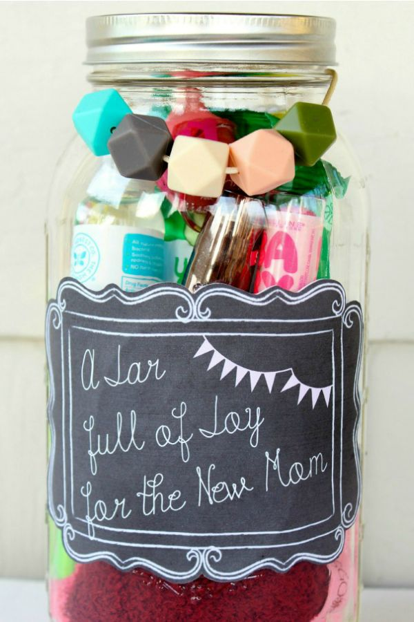 25 Mason Jar Presents for Mother's Day- Mother's Day Gifts-FOR THE MOM WHO'S CELEBRATING HER FIRST MOTHER'S DAY For new moms, this survival kit is a dream come true. Filled with all the necessities, it'll help her get through those first few months of sleepless nights. Make the mom-to-be smile with our selection of Mother's day gifts at redbookmag.com.