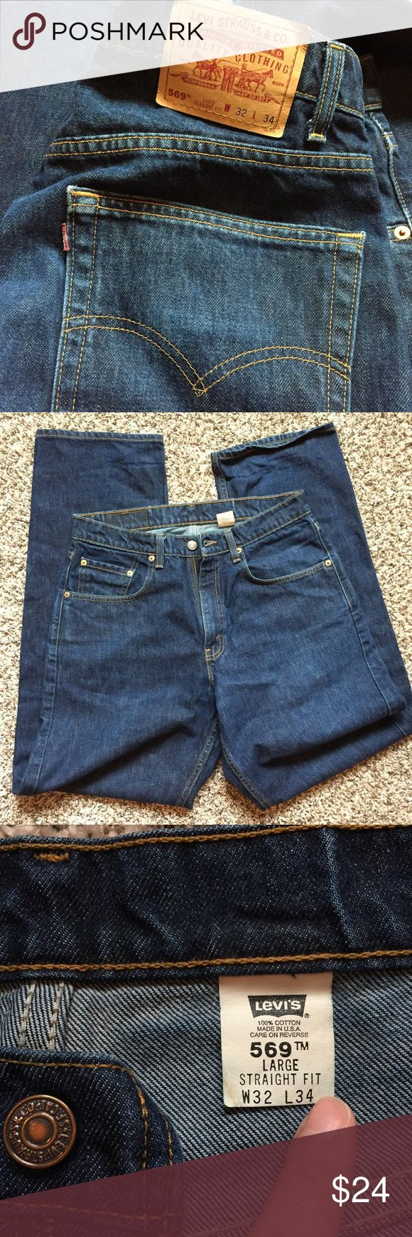 Levi's 569 Made in USA! Classic Men's Levi's 569 jeans. Large, Straight fit. No stains, holes, or fraying. Made in USA!! Size W32 L34 Levi's Jeans Straight