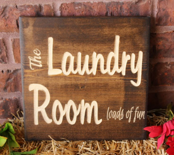 Laundry room decor, Laundry room sign, Carved wood, Wood signs, Laundry room decorations, Carved wood wall art, Wood laundry sign by Gratefulheartdesign on Etsy