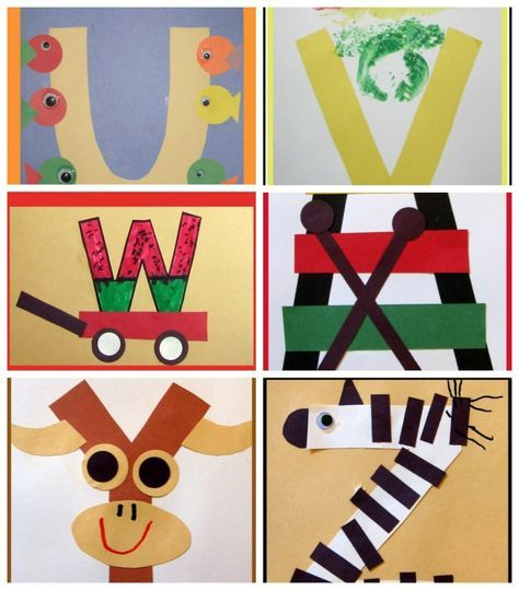 Letter of the Week Crafts for Preschoolers @mbream you might like this for E or K.