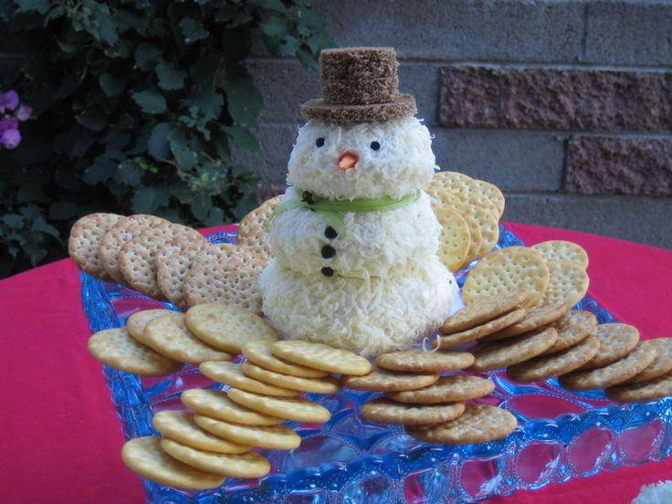 Snowman Cheesball (recipe - Martha Stewart)