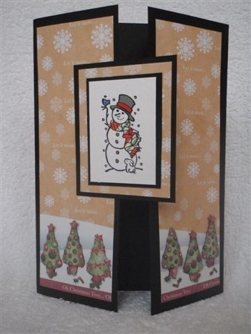 Christmas greeting card i like the layout  try different stamps