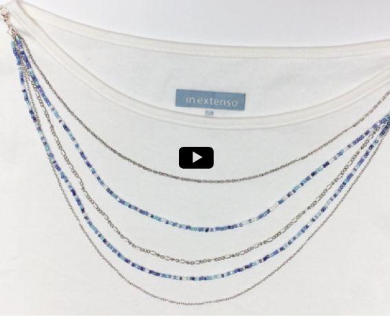 Les t-shirts basiques sont indispensables dans nos dressings. Et si l'on en customisait un ? Voici un DIY* simple pour créer un t-shirt à colliers intégrés.