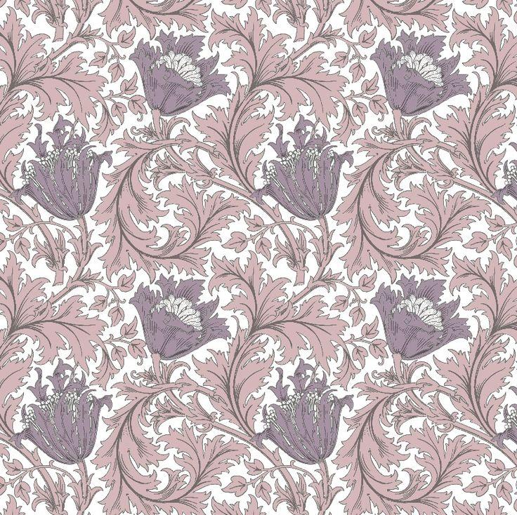 Anemone - Old Rose William Morris textile print and wallpaper