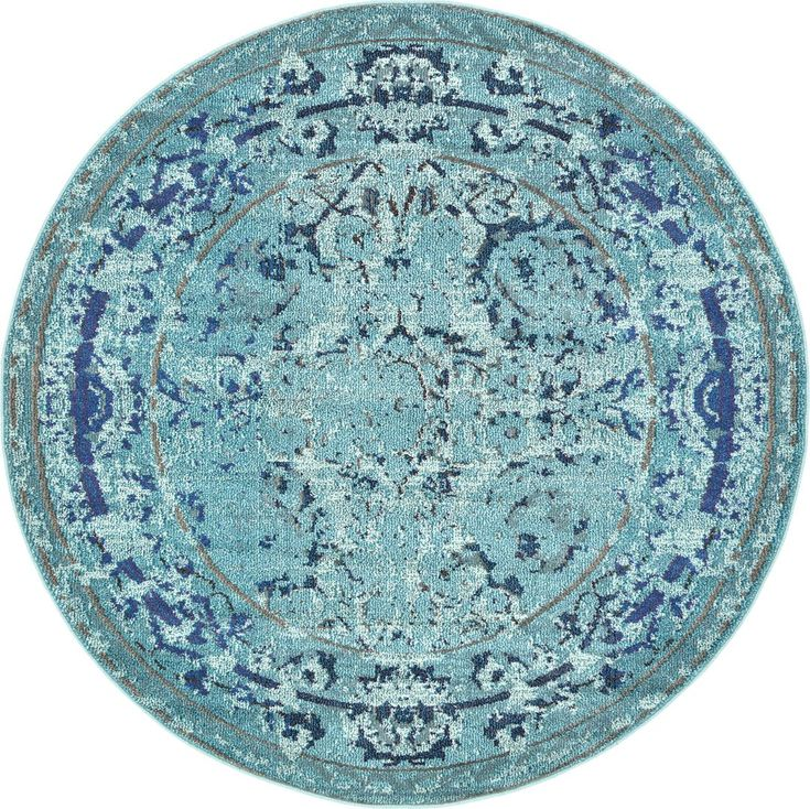 light blue 6u0027 x 6u0027 palazzo round rug area rugs esalerugs
