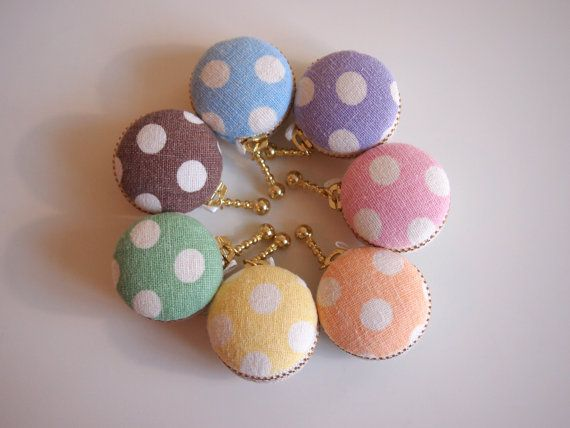 3.5cm Personalized Macaron Coin Purse/ Monogrammed/ by Chikaberry