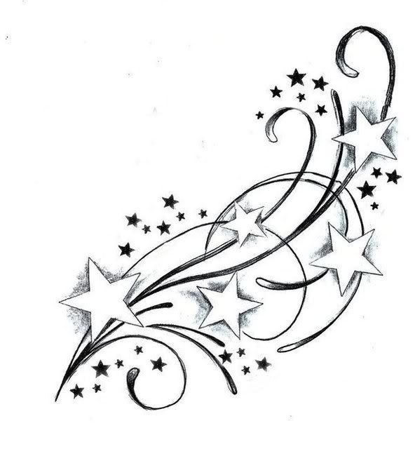 Dessin Tatouage Etoiles Dt3e6nt