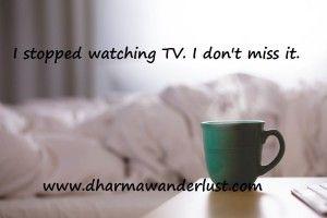 A blog post about mindful choices and minimalism. #blog #TV #mindfulness #minimalism