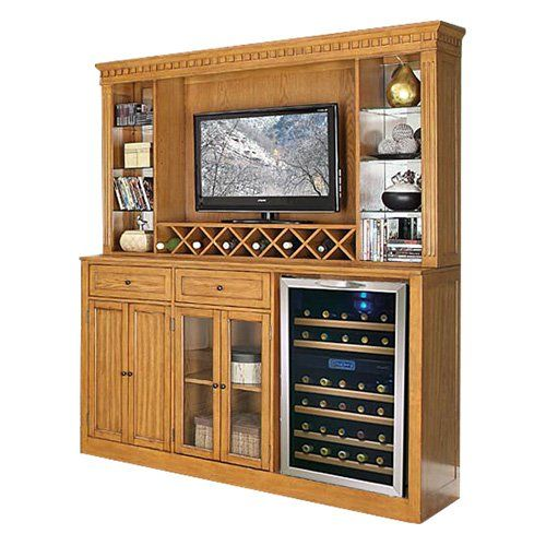 Have to have it. Manchester Home Bar with Optional Hutch - Burnished Oak - $1098 @hayneedle