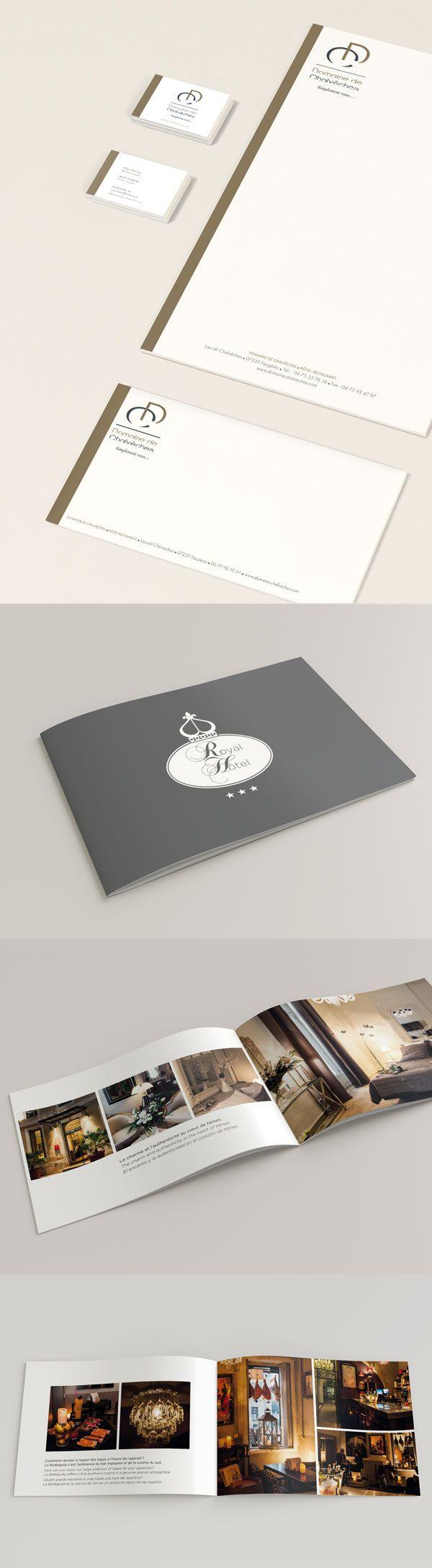 #agencerebelle - création plaquette de présentation Royal Hôtel Nimes #PrintPlaquette