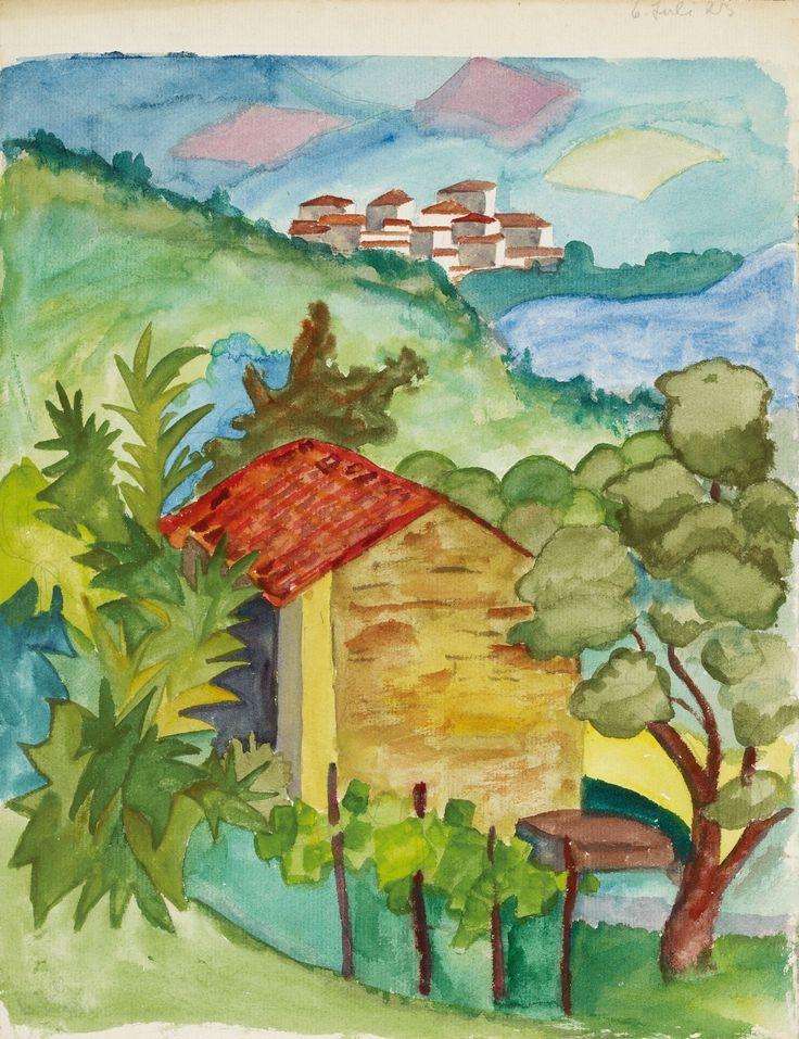 Hermann Hesse, Tessiner Landschaft, 1923, Auktion 943 Moderne Kunst, Lot 79