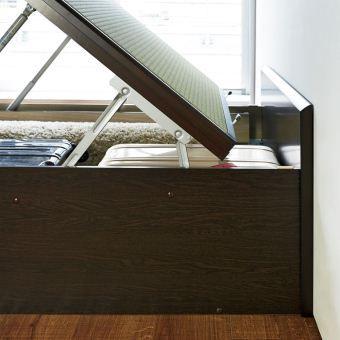 「美草」畳ガス圧収納ベッド ヘッドボード付き 通販 - ディノス