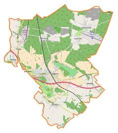 Mapa lokalizacyjna gminy Gogolin