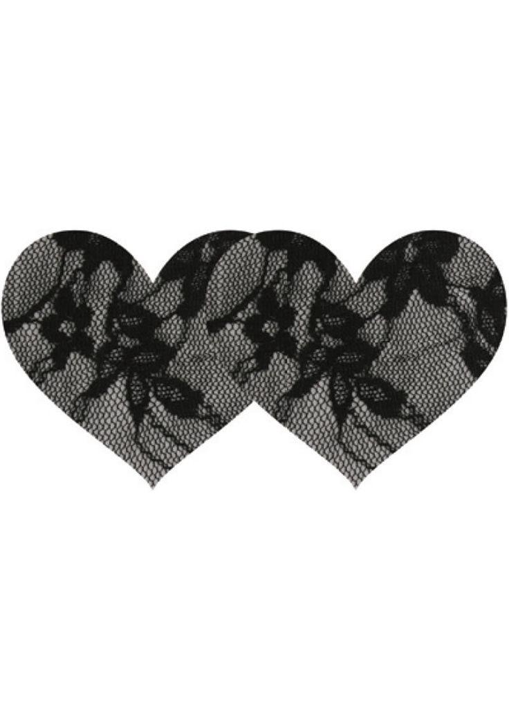 Buy Black Lace Heart - 2pk online cheap. SALE! $8.99