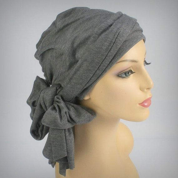 Hey, I found this really awesome Etsy listing at http://www.etsy.com/listing/121630126/gray-or-navy-turban-head-wrap-alopecia