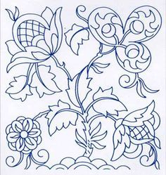 Jacobean Embroidery Pattern