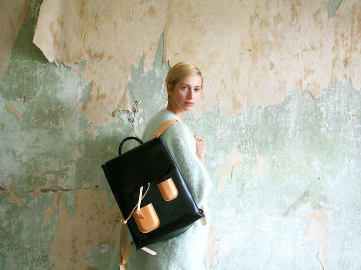 Pocket Backpack Black via Kuula   Jylhä. Click on the image to see more!