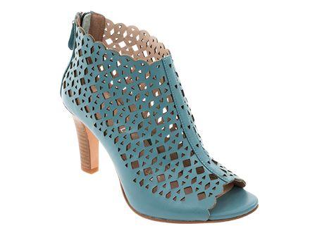 Tosoni at #Spitz - Lazer-Cut Peeptoe Boots - Women's Shoes #SS14