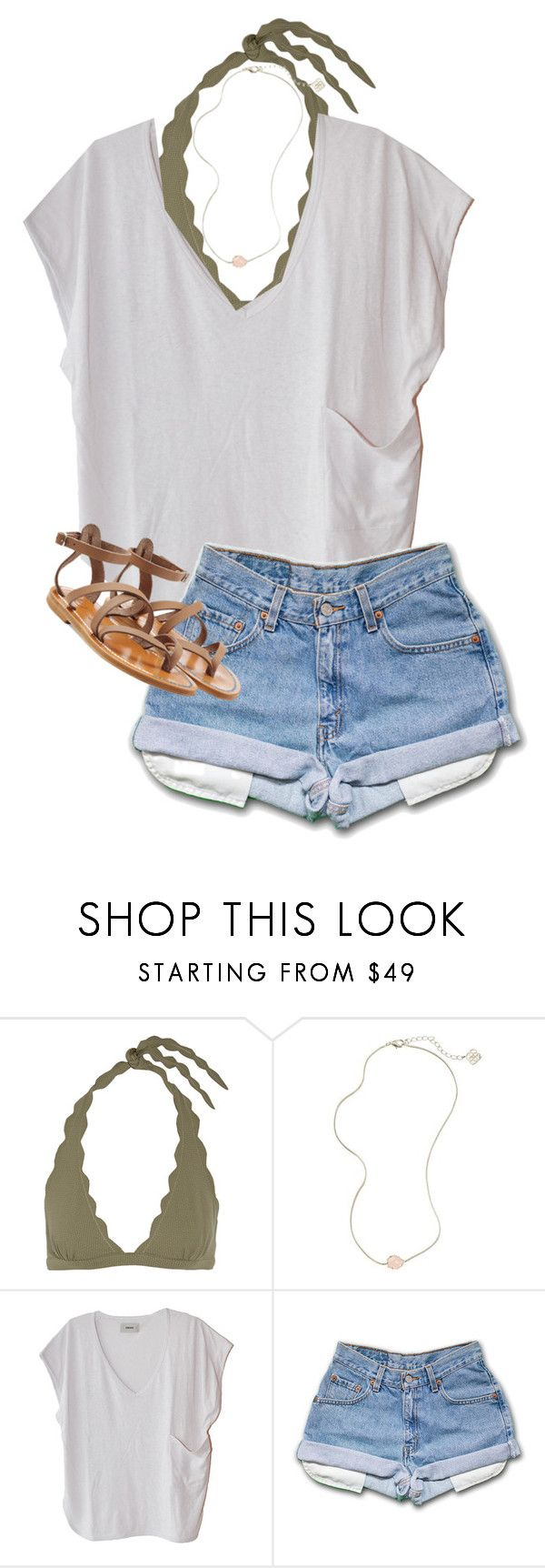 """Beach dayz"" by cait926 ❤ liked on Polyvore featuring Marysia Swim, Kendra Scott, Humanoid and K. Jacques"