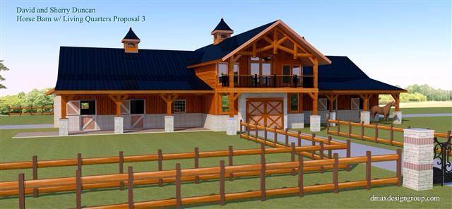 93 best horse barn exteriors images on pinterest horse for Barn apartment plans