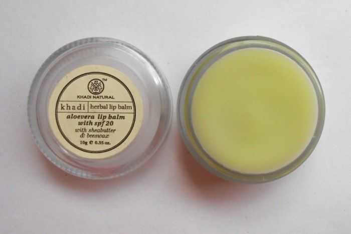 Khadi Natural Aloe Vera Lip Balm Review-tub