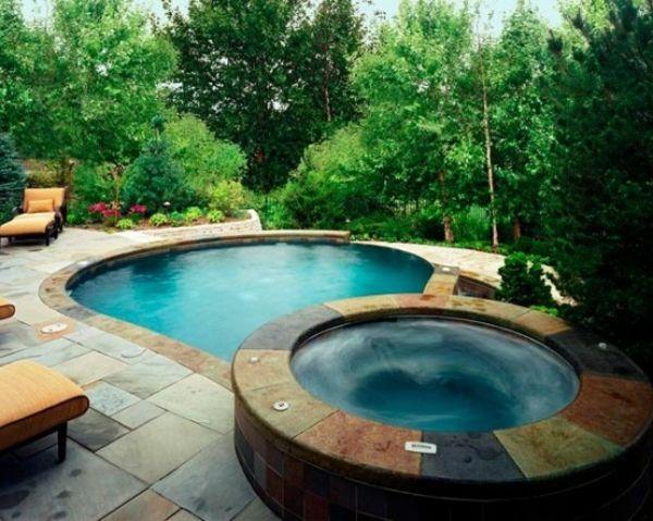 Die besten 25+ Eckbadewanne mit whirlpool Ideen auf Pinterest - outdoor whirlpool garten spass bilder