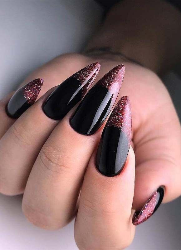 Black Elegant Nails