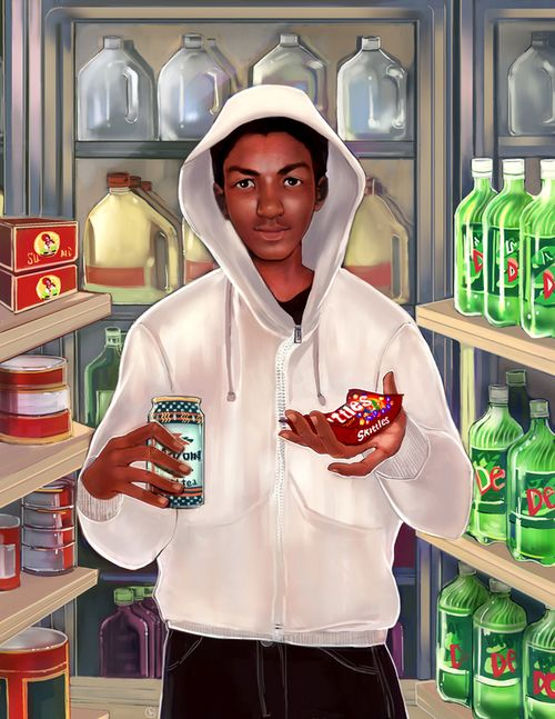 Your character sees this painting on a friend's wall. #writingprompt #WritersRelief #TrayvonMartin