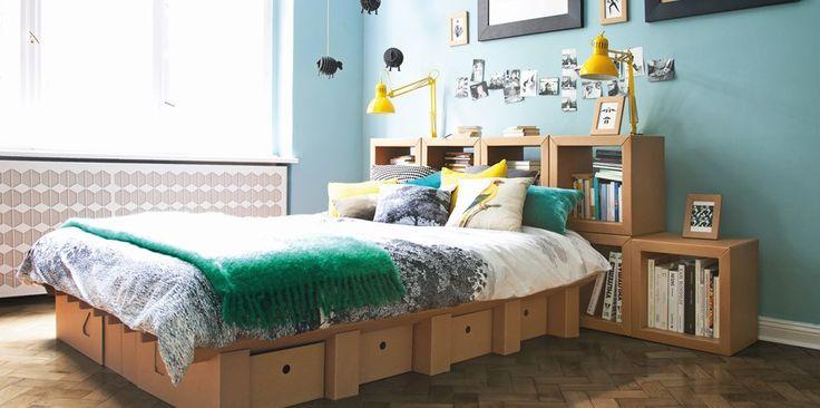 Nachhaltige Möbel: Bett aus Pappe - Wenn der Postbote das Bett liefert – | ||| | || CODECHECK.INFO