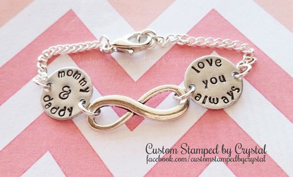 :{: Love you always Mother Daddy Daughter Infinity Bracelet :}: This listing is for 1 (one) Love you always Mother Daddy Daughter Infinity