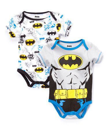 Look what I found on #zulily! Gray Batman Bodysuit Set - Infant #zulilyfinds