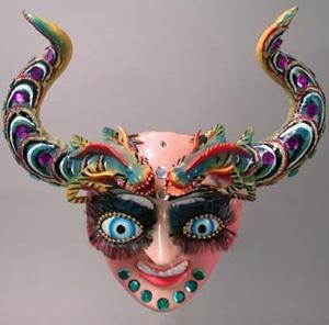 Bolivian Mask - China Supay mask from Bolivia